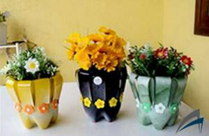 Cara Membuat Vas Bunga dari Botol Plastik