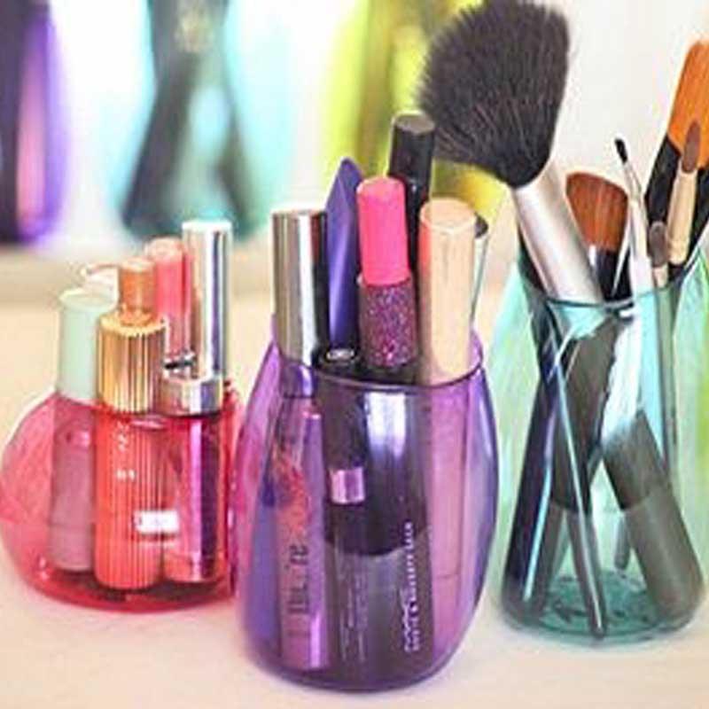 Cara membuat Botol Plastik Bekas Jadi Tempat Make Up