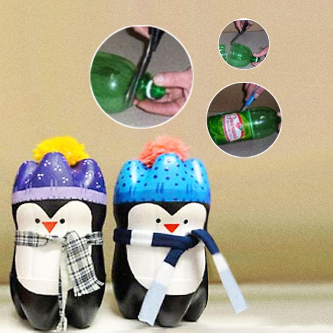 Cara Membuat Boneka Pinguin Dari Botol Bekas