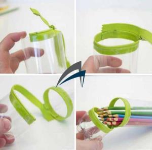 Membuat Tempat Pensil Dari Botol Plastik 18f38da021