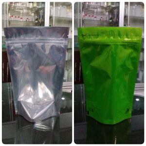 Standing Pouch TransMets Hijau With Zipper 250 gr